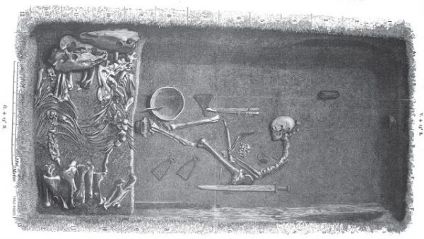 Woman buried with weapons - Birka